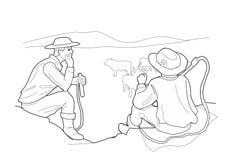 Poganiacz rozmowa Czarna Wektorowa ilustracja odizolowywająca na białym tle ilustracja wektor