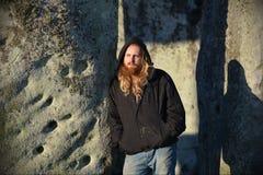 Poganie Zaznaczają jesieni równonoc przy Stonehenge Zdjęcie Royalty Free