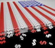 Pogarszający się gospodarki flaga Zdjęcie Stock