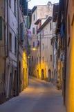 Poggibonsi Siena, på aftonen Arkivbilder
