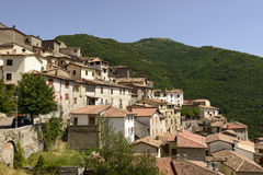 Poggio Bustone old buildings, Rieti Royalty Free Stock Photos