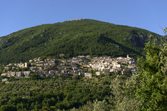 Poggio Bustone view, Rieti valley Stock Photos
