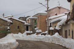 Poggio Cancelli村庄在阿布鲁佐 免版税图库摄影