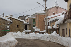 Poggio Cancelli village in Abruzzo Royalty Free Stock Photography