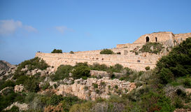 Poggio Rasu fort. Caprera island (La Maddalena archipelago - Sardinia) Royalty Free Stock Photo
