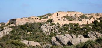 Poggio Rasu fort. Caprera island (La Maddalena archipelago - Sardinia) Stock Photography