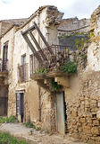 Poggioreale house. A balcony in main street in poggioreale, destroyed from the earthquake of 1968 royalty free stock photo