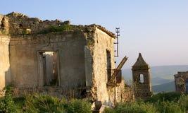 Poggioreale ruins door in balcony Royalty Free Stock Photos