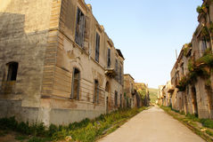 Poggioreale ruins, the street Royalty Free Stock Photography