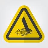 Pogmatwanie ręka Płodozmiennego dyszla symbolu znak Odizolowywa Na Białym tle, Wektorowa ilustracja EPS 10 ilustracja wektor