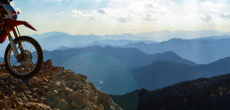 pogoń wysoka w górach przygoda zdjęcie stock