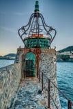 Pogoda Będąca ubranym latarnia morska Fotografia Royalty Free