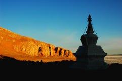 Pogoda bianco nel Tibet fotografie stock
