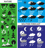 Pogoda i natura royalty ilustracja
