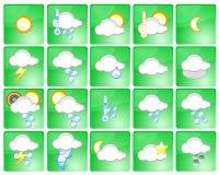 pogoda ikony ilustracja wektor