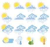 pogoda ikony Fotografia Royalty Free