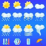 pogoda ikony Zdjęcia Stock