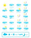 pogoda ikony Obraz Royalty Free