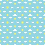 Pogoda Podpisuje Bezszwowego wzór royalty ilustracja