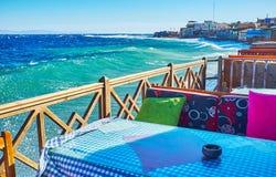 Pogoda przy Aqaba zatoką, Dahab, Synaj, Egipt obraz royalty free