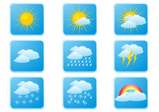 pogoda przycisk Obraz Stock