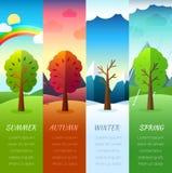 Pogoda przyprawia ikony na natury ekologii tle Wektorowy płaski projekt Zdjęcia Royalty Free