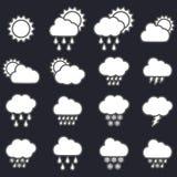 pogoda stanie ikony Obraz Royalty Free