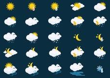 pogoda stanie ikony Zdjęcia Royalty Free