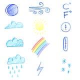 pogoda stanie ikony Obraz Stock