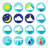 pogoda stanie ikony ilustracji