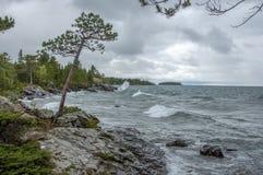 Pogoda Sztormowa na Jeziornym przełożonym fotografia stock