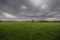 Pogoda sztormowa nad polaną Zdjęcie Royalty Free