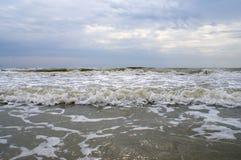 Pogoda sztormowa przy Czarnym morzem Zdjęcia Royalty Free