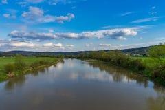 pogodna dzień rzeka Obrazy Royalty Free