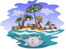 Pogodna egzot plaża Zdjęcia Stock