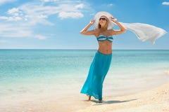 Pogodna plaża Obraz Stock