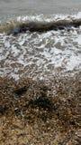 Pogodna plaża Zdjęcia Royalty Free