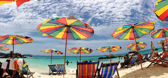 Pogodna plaża Zdjęcia Stock