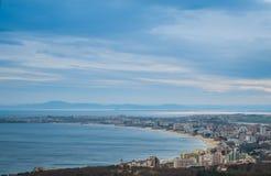 Pogodna Plażowa panorama Zdjęcia Stock