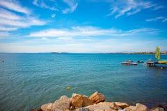 Pogodne plaże Ateny, Grecja zdjęcia stock