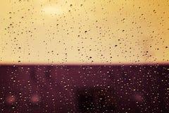 Pogodne wod krople Zdjęcia Royalty Free