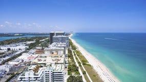 Pogodne wyspy Plażowy Miami Oceanu przodu siedziby Obrazy Royalty Free