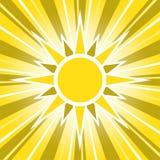 Pogodnego Złotego słońca Rozjarzony wschód słońca ilustracji