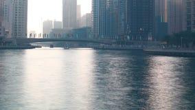 Pogodny cienia Dubai marina 4k czasu upływ zbiory