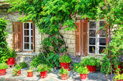 Pogodny dom - architektoniczny szczegół Fotografia Royalty Free