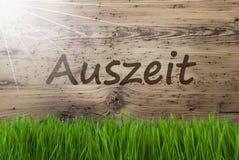 Pogodny Drewniany tło, Gras, Auszeit sposobów przestój fotografia stock