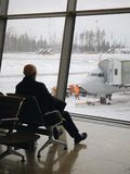 pogodny dzień lotniskowy wnętrze fotografia royalty free