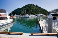 pogodny dzień marina zdjęcie royalty free
