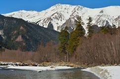 Kaukaz widok Zdjęcia Royalty Free