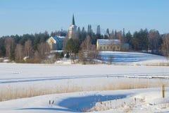 Pogodny Luty ranek w Ruokolahti Finlandia Obraz Stock